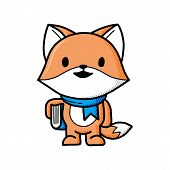 Fox Vector Illustration. Fox Vector. Figure Foxes. Fox On A White Background. Fox Wild. Beautiful Fo poster