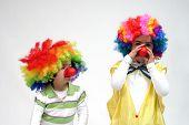 lustiger Clown, Kind, Mädchen, weiblich