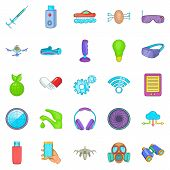Achievement Icons Set. Cartoon Set Of 25 Achievement Icons For Web Isolated On White Background poster