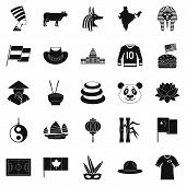 Monument Icons Set. Simple Set Of 25 Monument Icons For Web Isolated On White Background poster