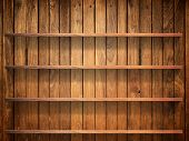 Wood Shelf On Wood Wall