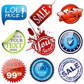 Vector Promotional Elements Set. Vector Illustration