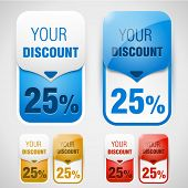 Discount labels. Vector