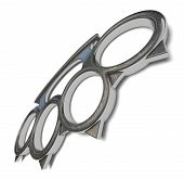 picture of brass knuckles  - Illustration of a brass knuckles on a white background - JPG