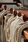 Belaying Pins Holding Sailing Rope