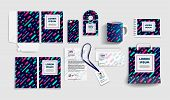 Corporate Identity Business Items. Editable Corporate Identity Template Design. Vector Icons Office  poster