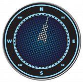 Compass digital display