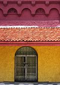 foto of ybor city  - colorful facade of an  historic buildings of the cuban cigar manufacturing center of ybor city section of tampa - JPG
