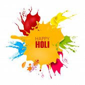 Vector Illustration Of Colorful Splash For Holi Background poster