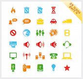 Colorful set of 29 sticker icons - part 4
