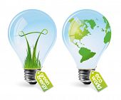 Realistic eco bulbs - set 1