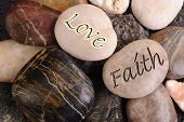 Love and Faith Stones.