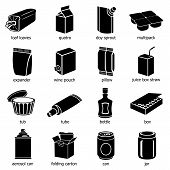 Package Types Icons Set. Simple Illustration Of 16 Package Types Icons For Web poster