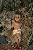 A baby Jesus figure on Christmas, Tabgha-Church of St. Peter's Primacy