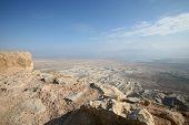View on dead sea from Masada Israel
