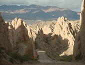 Cañón de flechas en la famosa Ruta 40, Argentina