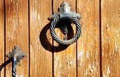 Door With Metalic Doorhandle