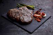 juicy beef steak poster