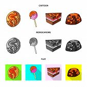 Isolated Object Of Confectionery And Culinary Sign. Set Of Confectionery And Product Vector Icon For poster