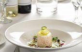 Gourmet Prawn Dish In Restaurant