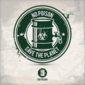Alternative No Poison Stamp Containing: Two Environmentally Sound Eco Motifs In Circle Frames, Grung poster