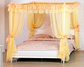 Luxurious canopy bed