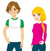 Teenager Couple T-shirt