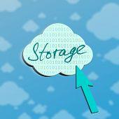 Symbol Of Storage In Cloud Server