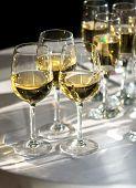 Copos de vinho branco