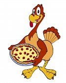 Thanksgiving Turkey With Pizza