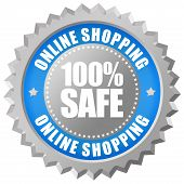 Safe online shopping emblem