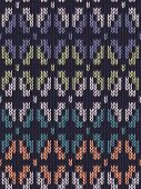 Style Seamless Knitted Pattern. White Blue Green Orange Turquoise Color Illustration From My Large C