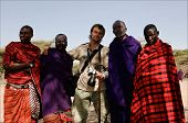 Masai With Photographer.