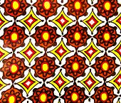 stock photo of batik  - colorful of abstract patterns on slik batik fabric - JPG