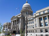 stock photo of boise  - A look at the boise state capital from outside - JPG