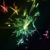 Sparkler multi coloured