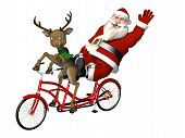 foto of humbug  - Santa and Reindeer  - JPG