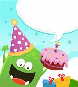 Monster Birthday Message