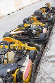 Perspective Row Of Go-kart
