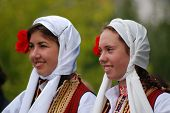 Girls In Traditional Macedonian Clothes