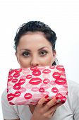 Young Woman With Cosmetics Bag