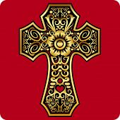 goldene Kreuz ornament
