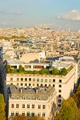 overview of Paris  with Mont Matre