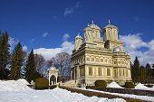 Curtea de Arges Monastery in winter