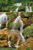 Krka river waterfalls in the Krka National Park Roski Slap Croatia
