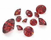 Few Round Cut Rubies