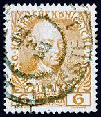 Postage stamp Austria 1908 Leopold II, Emperor of Austria