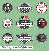 Ping Pong Champion Labels and Icons