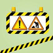 Vektor-Warnzeichen