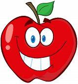 Apple Cartoon Mascot Character